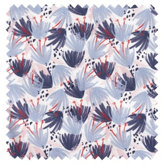 Pepper Eden Blue Fabric - 5 yards For Sale