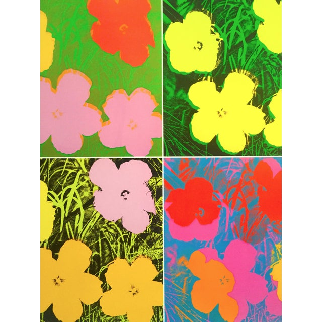 """Andy Warhol Foundation """" Myths of Pop """" Museo Thyssen Lithograph Print Pop Art Exhibition Poster """" Flowers """" 1970 For Sale In Kansas City - Image 6 of 13"""