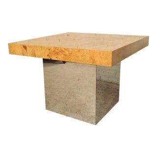Milo Baughman Mid-Century Patchwork Burl Table