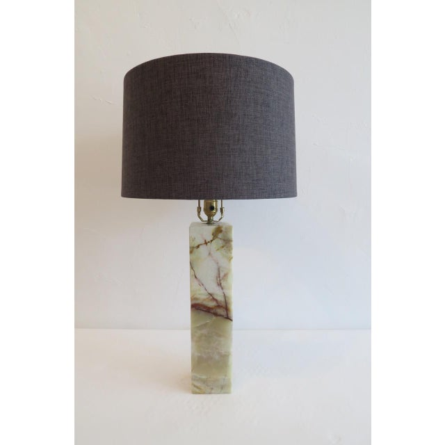 Modern Walter Von Nessen Marble Table Lamp For Sale - Image 3 of 8
