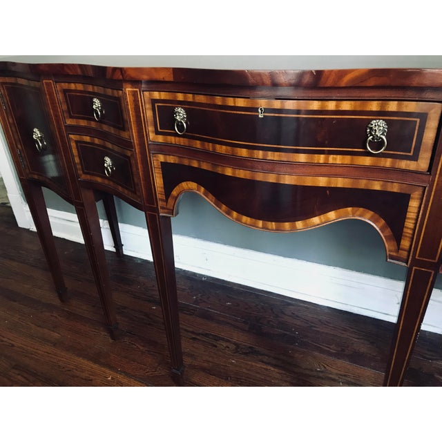 1980s Hickory Chair Company Huge Mahogany Sideboard For Sale - Image 5 of 9