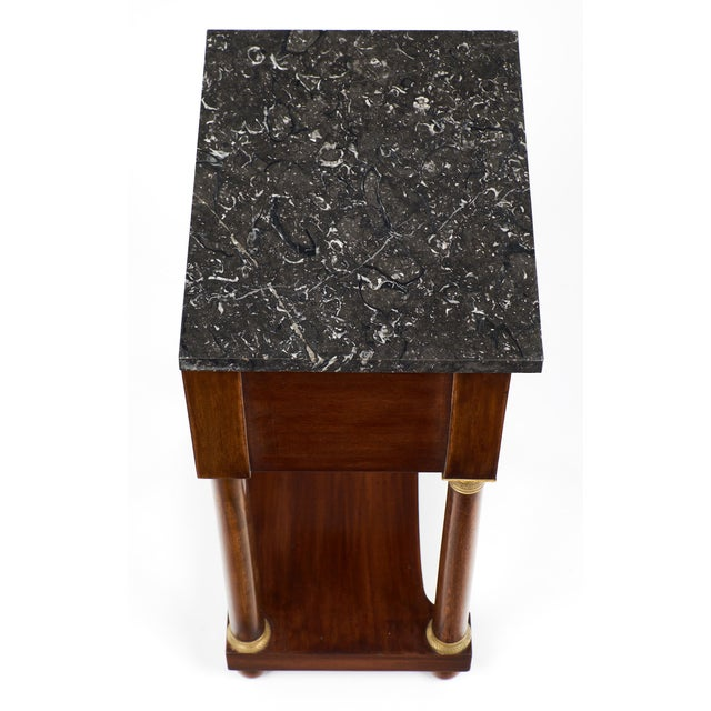 Empire Style Marble Top Side Tables- A Pair - Image 6 of 10
