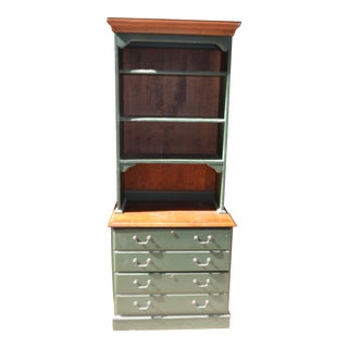 Ethan Allen Country Crossings File Cabinet With Hutch - A Pair