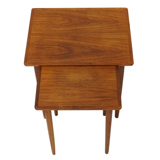 Bramin danish teak nesting tables a pair chairish for Cie no 85 table 4
