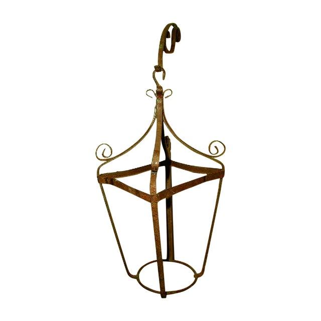 19th C. Italian Hanging Metal Planter - Image 1 of 4