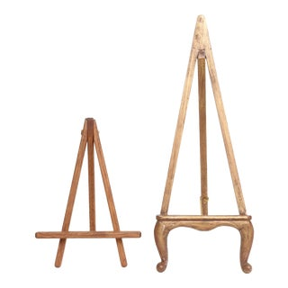 Small Vintage Wooden Easels - Set of 2