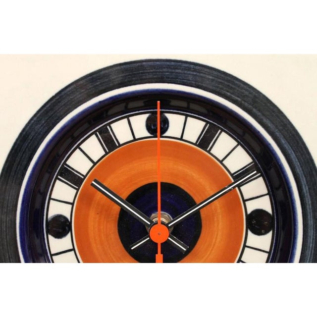 Rorstrand Ceramic Clock Designed by Marianne Westman For Sale - Image 4 of 10