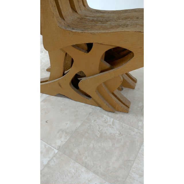 Vintage Cardboard Chair, 1970s For Sale - Image 5 of 11