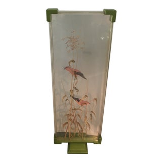 Lucite Screen of Song Birds by Jacqueline Balliu For Sale