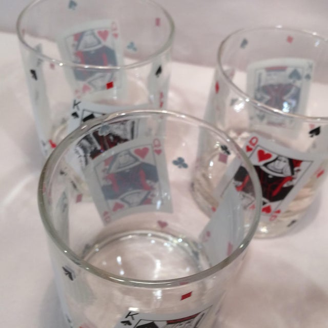 Poker Playing Card Lowball Glasses- Set of 4 - Image 10 of 11
