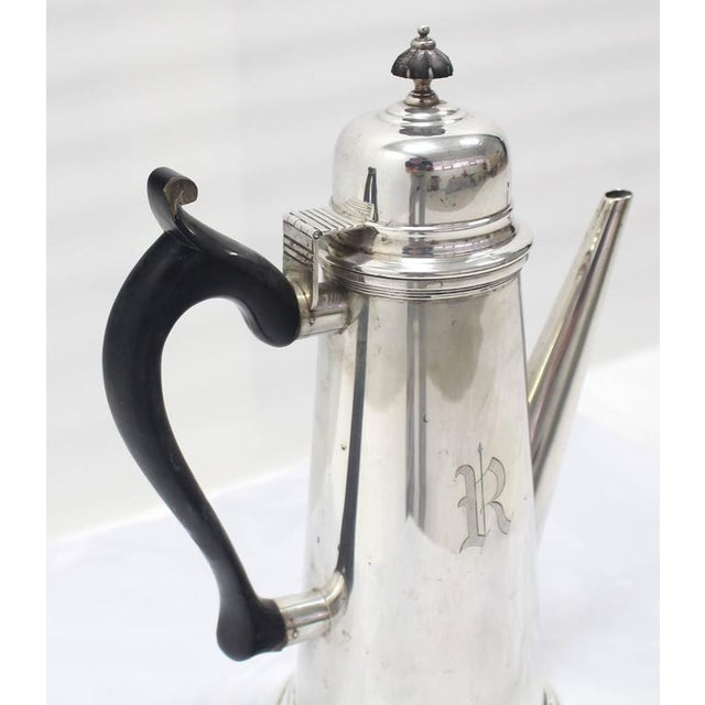 Metal Jacob Hurd by Frank Whiting Sterling Silver Tea Coffee Pot For Sale - Image 7 of 8