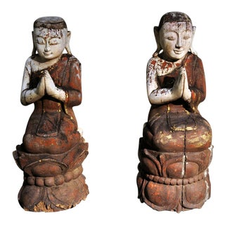 Southeast Asian Figural Carving- A Pair For Sale