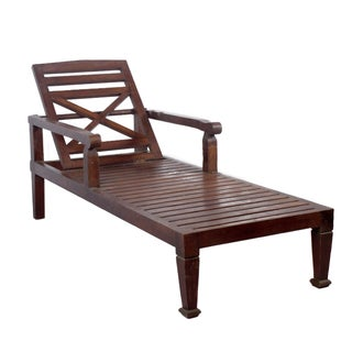 Teak Wood Chaise Lounge Chair