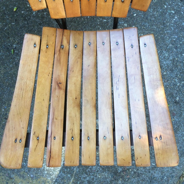 1950s Vintage Umanoff Slat Dining Chairs- Set of 6 For Sale - Image 10 of 13