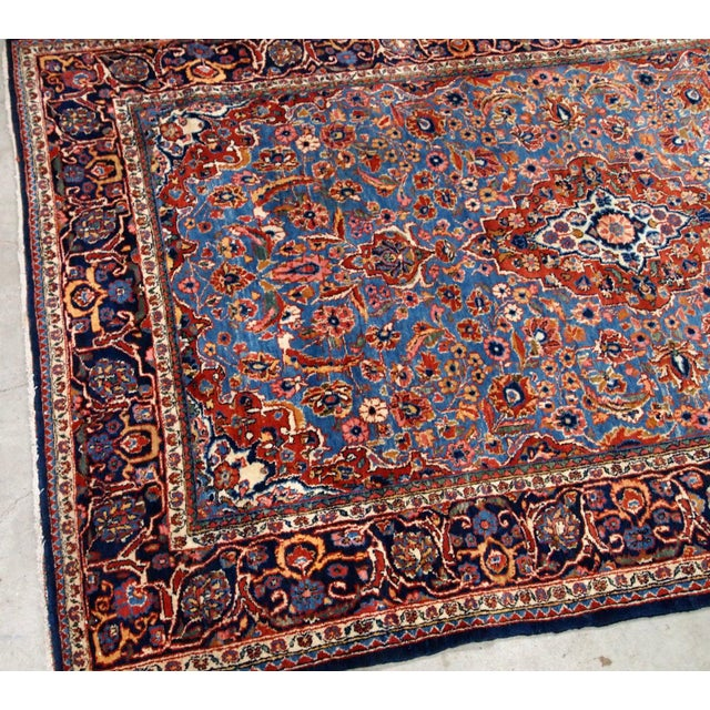 1900s, Handmade Antique Persian Kashan Rug 4.1' X 6.6' - 1b706 For Sale - Image 10 of 12