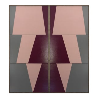 """Original Acrylic Painting """"Double Jagged Triptychs Jet0565"""" For Sale"""