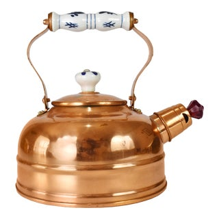 1970s Vintage Copper Tea Kettle For Sale