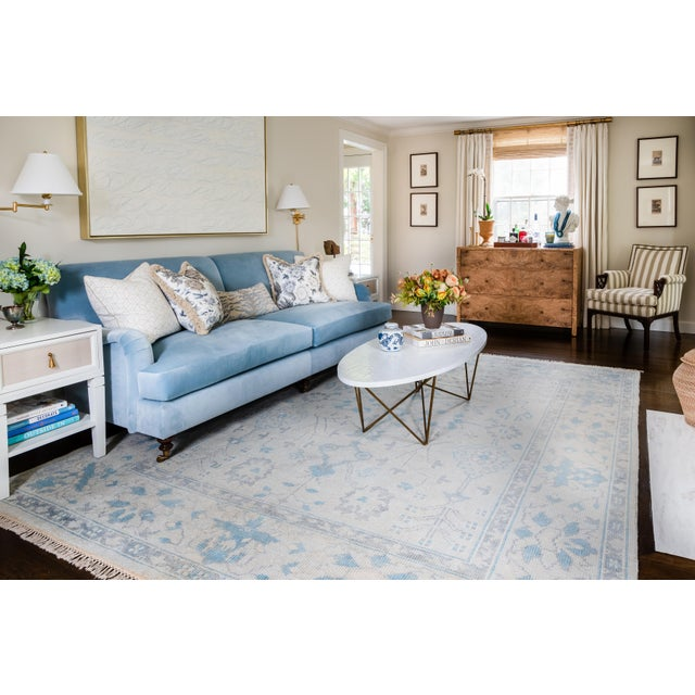 """Erin Gates Concord Lowell Ivory Hand Knotted Wool Area Rug 7'9"""" X 9'9"""" For Sale In Atlanta - Image 6 of 7"""