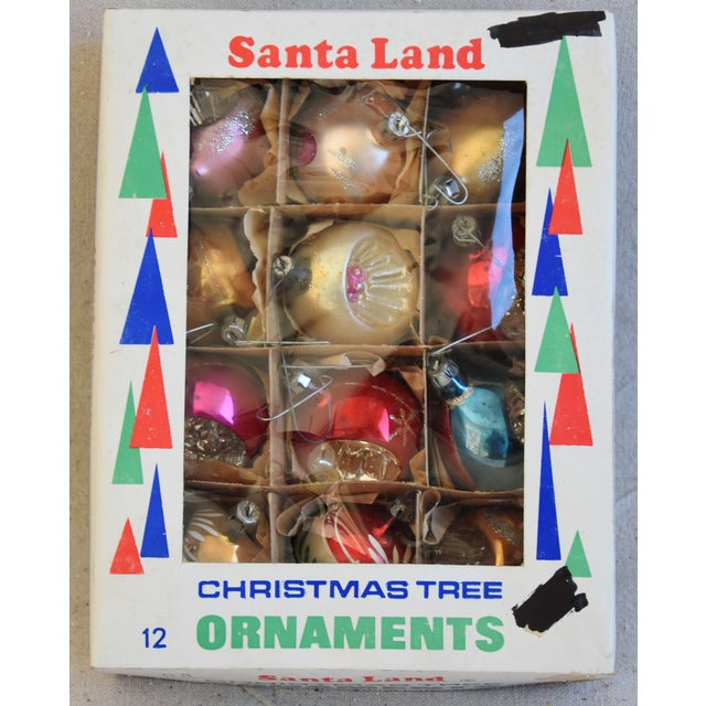 Adirondack Vintage Fancy Indent Christmas Ornaments W/Box - Set of 12 For Sale - Image 3 of 9
