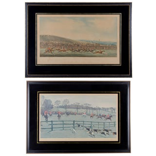 Antique English Sporting Prints From Alken and Alden - A Pair For Sale