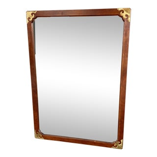 1970s Vintage Henredon Campaign Style Mirror For Sale