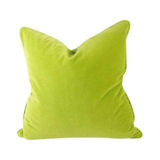 Italian Citron Green Velvet Pillow