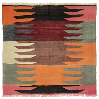 Vintage Turkish Picnic Rug | Sofreh | 3 X 3 For Sale