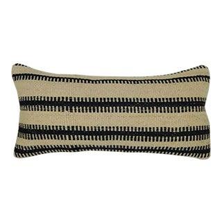 Vintage Cushion Covers, Vintage Ethnic Kilim Pillow Cover, Uniqe Stripe Design Lumbar Pillow Cover 10'' X 20'' (25 X 50 Cm) For Sale
