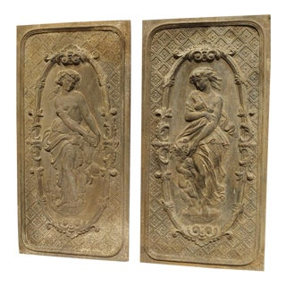 Pair of Mid 19th Century French Fireback Panels