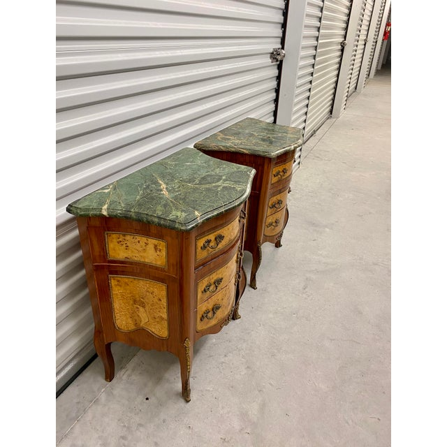 Vintage French Marble Top Nightstands - a Pair For Sale In Jacksonville, FL - Image 6 of 12