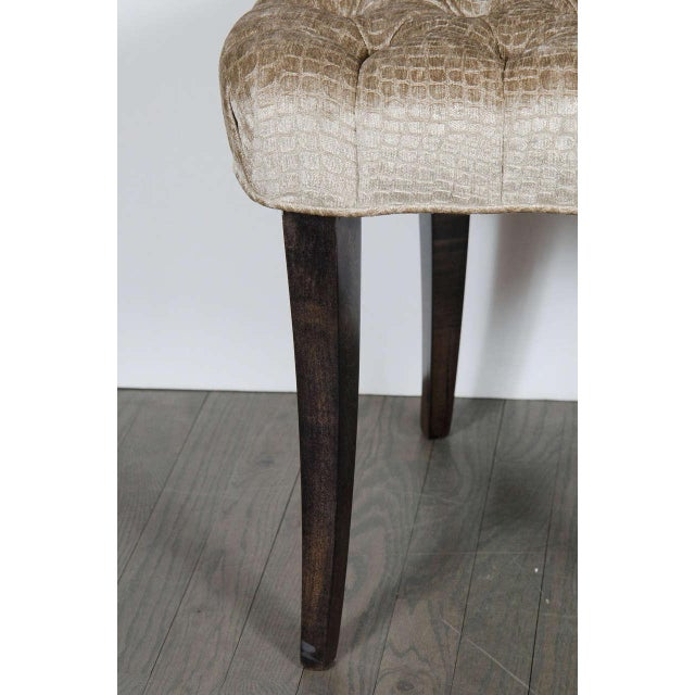 1940s 1940s Hollywood Regency Draped Chair by Grosfeld House in Ebonized Walnut For Sale - Image 5 of 8