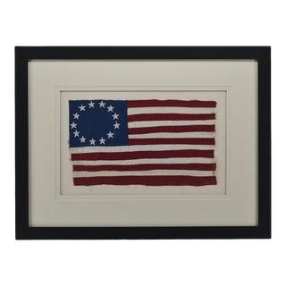 13 Star Flag Folk Art Hand Stiching For Sale