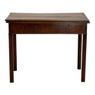18th Century English Mahogany Game Table For Sale