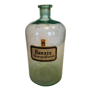 Vintage Pharmacy Benzine Bottle For Sale