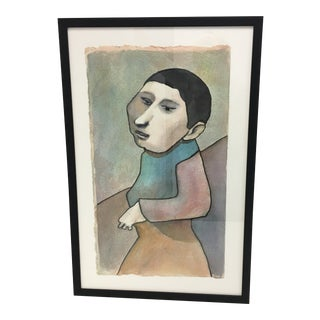 Portrait in the Style of Picasso 1970s Painting For Sale