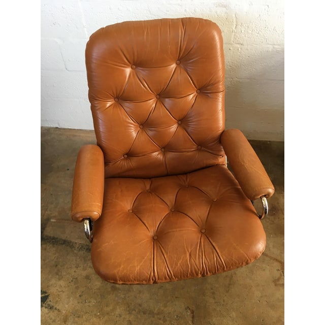 Vintage Mid-Century Modern Reclining Chair By Ekornes Stressless (A Pair) - Image 5 of 11
