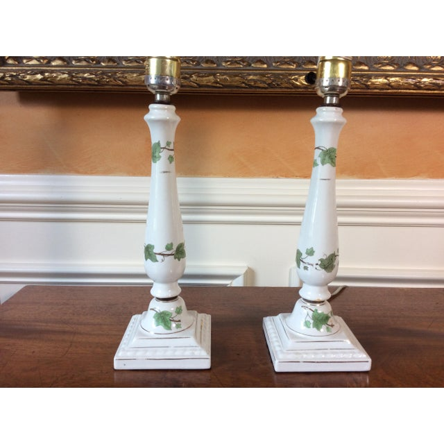 Vintage Ceramic Lamps - A Pair - Image 3 of 6
