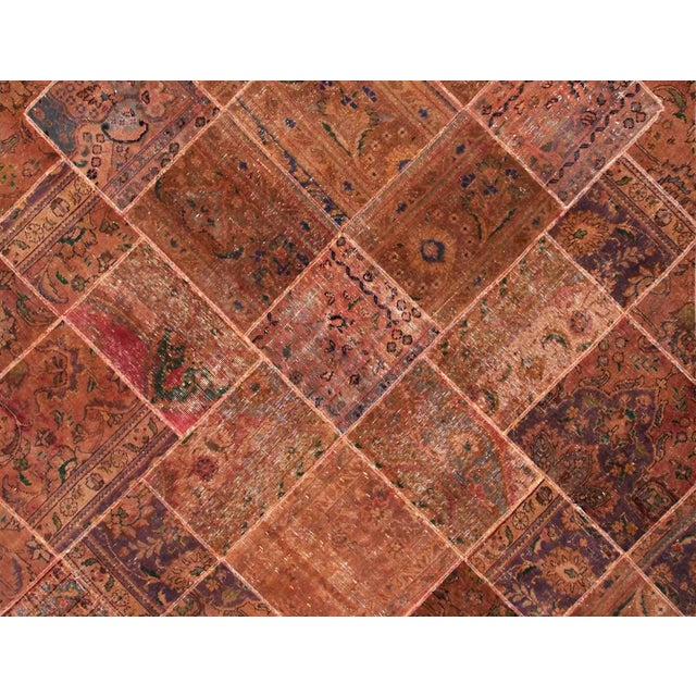 "Patchwork Wool & Cotton Rug - 6'3"" x 9'11"" - Image 2 of 2"