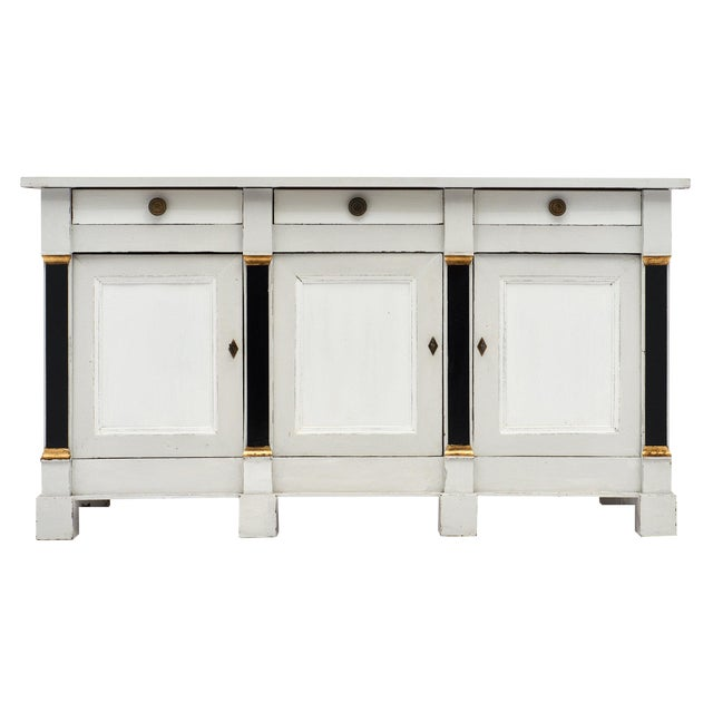 French Painted Directoire Style Buffet For Sale