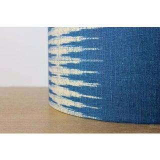 Peter Dunham Indigo Ikat Linen Drum Lampshade Preview
