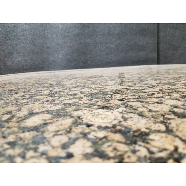 Round Granite Marble & Drum Base Dining Table For Sale In Los Angeles - Image 6 of 6