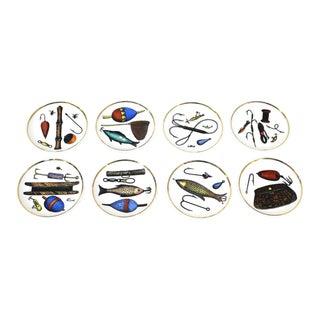 Mid Century Modern Rosenfeld Imports Ceramic Coasters - Set of 8 For Sale