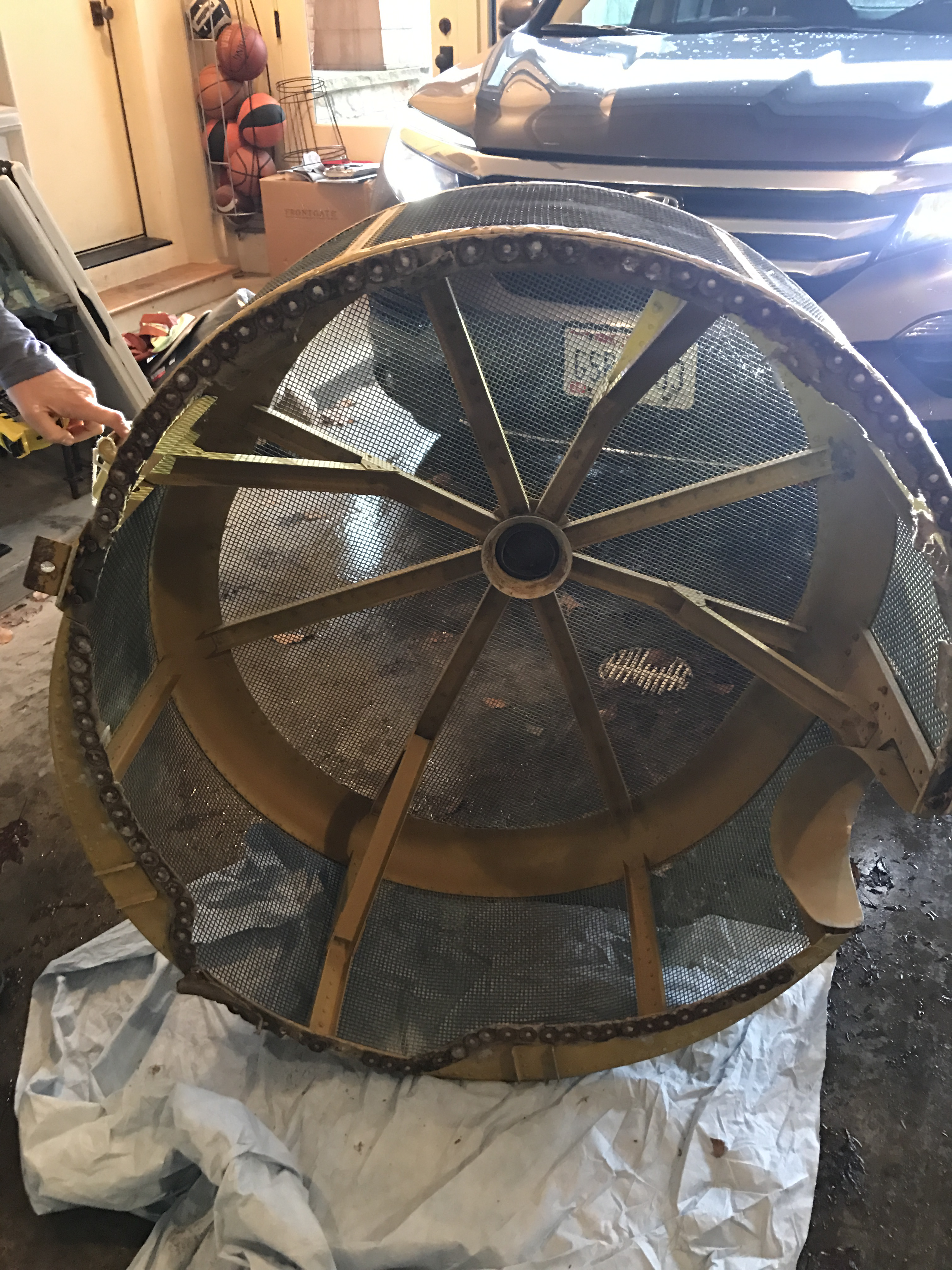 Vintage Engine Cowling Coffee Table For Sale In Cleveland   Image 6 Of 8