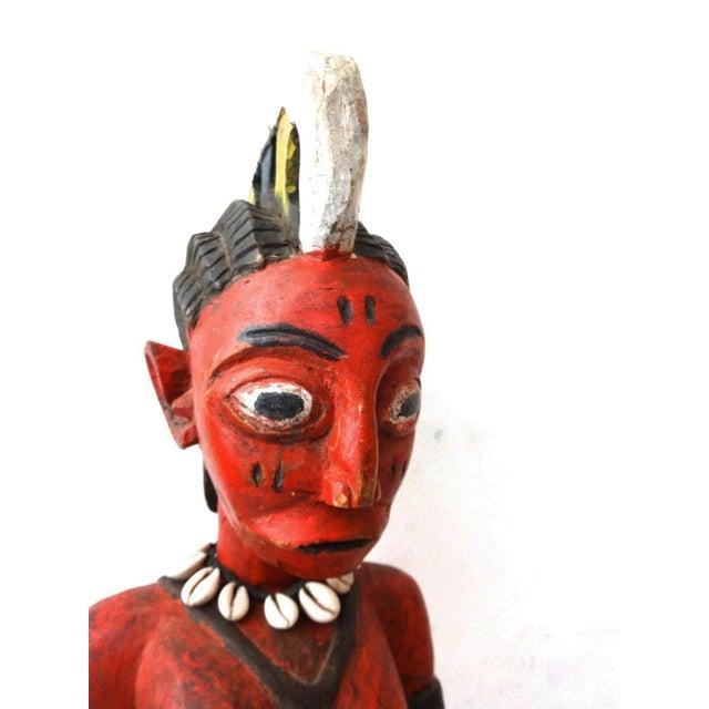 Iron African Baule Ivory Coast Spirit Maiden Sculpture For Sale - Image 7 of 10