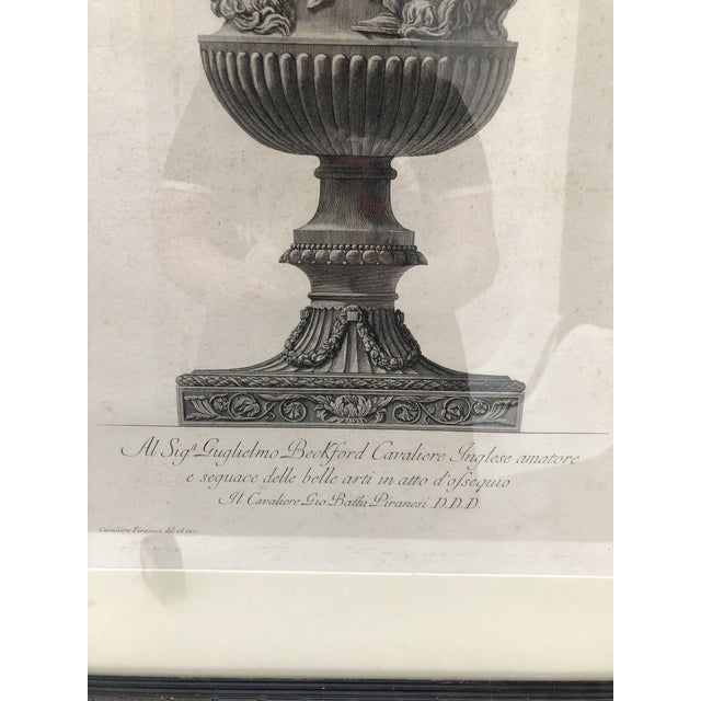 19th Century 19th Century Piranesi Style Engraving of Urn Decorated With Four Seasons/Four Stages of Man For Sale - Image 5 of 13