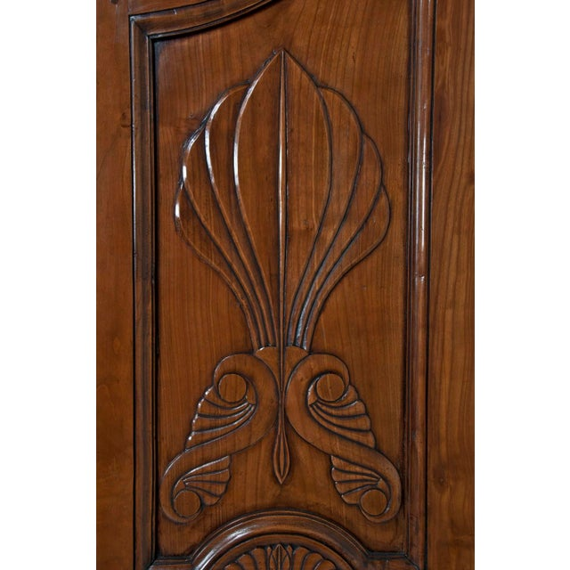 Early 19th Century 19th Century Walnut Italian Armoire For Sale - Image 5 of 9