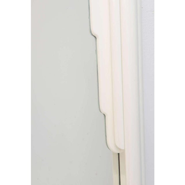 Dorothy Draper Hollywood Regency Art Deco Style Mirror in White Lacquer For Sale - Image 9 of 11
