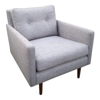 Mid-Century Winter Gray Armchair