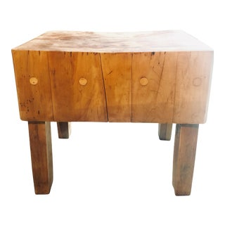 Early 20th Century Vintage Butcher Block Table For Sale