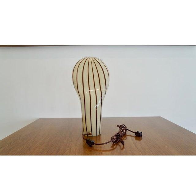 Striped Murano Italian Art Glass Lamp - Image 5 of 8